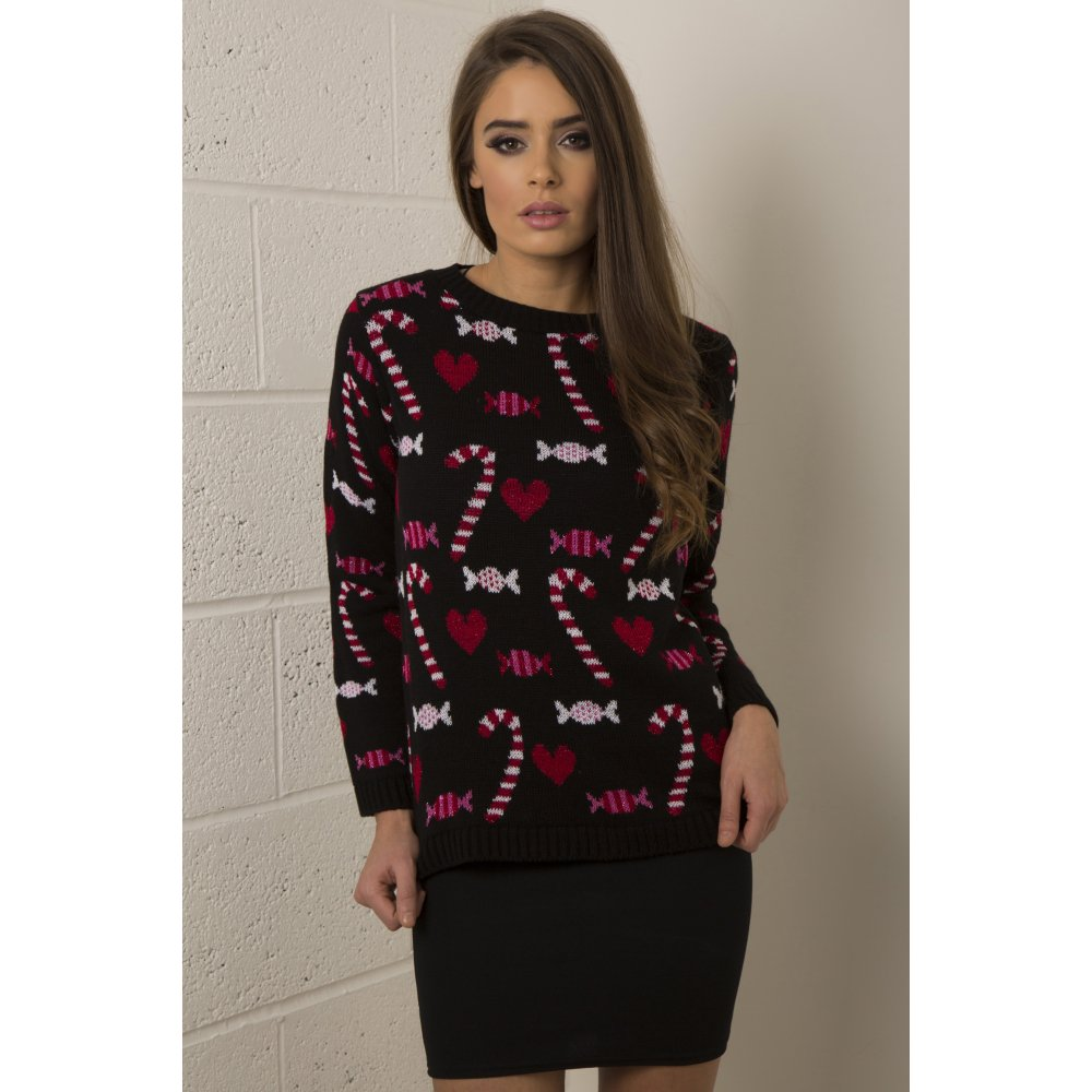 Candy Cane Christmas Jumper