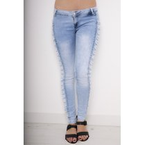 Acid Wash Ripped Studded Jeans