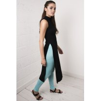 Basic Jersey Leggings in Turquoise