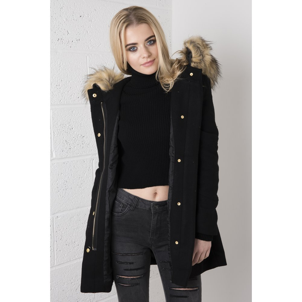Parka Jacket With Fur Hood | Jackets Review