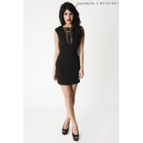 Black Tie up Sleeveless Mini Dress