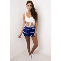 Blue Tie Dye Runner Shorts
