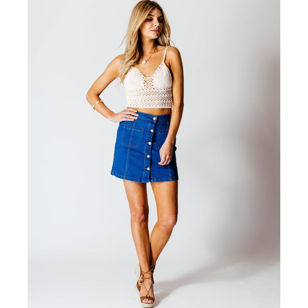 Blue Denim Skirt - Dress Ala