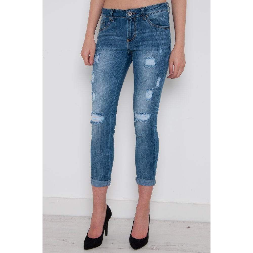 Skinny Jeans with Ripped Detail