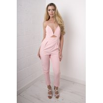 Cut-Out Jumpsuit in Pink