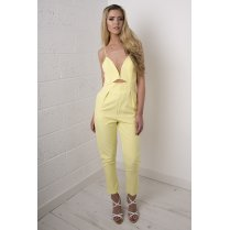 Cut-Out Jumpsuit in Yellow