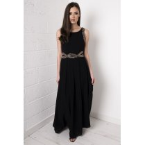 Embellished Maxi Dress in Black