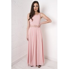 Embellished Maxi Dress in Pink