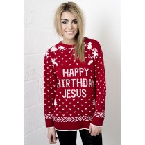 Happy Birthday Jesus Christmas Jumper