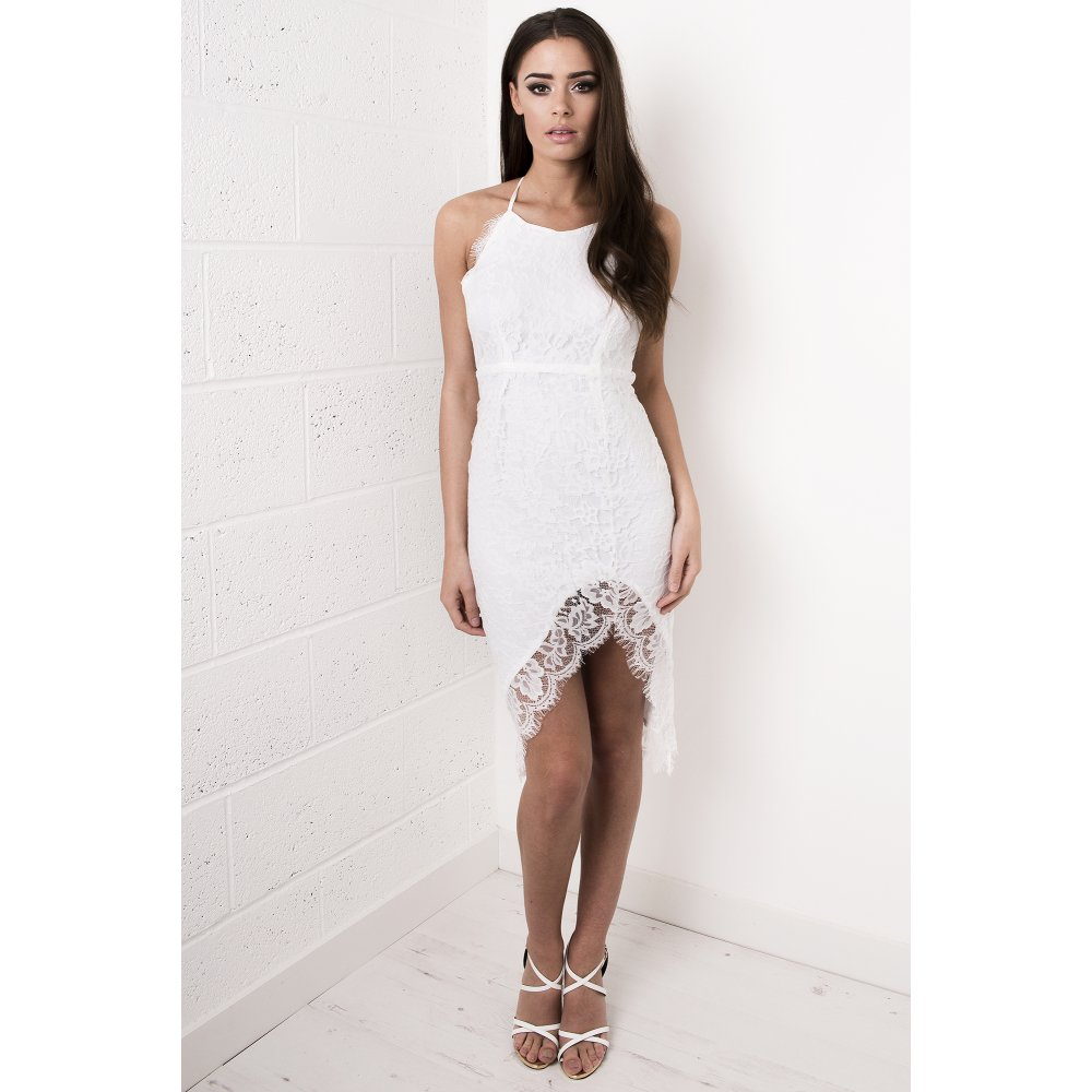 05aaa4482153 Lace Strappy Midi Dress in White