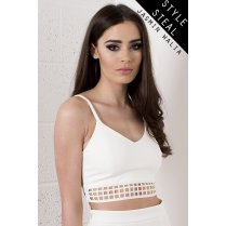 Laser Cut Bralet in White