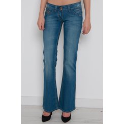 Light Wash Denim Flared Jeans