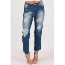 Mid Blue Denim Boyfriend Jeans