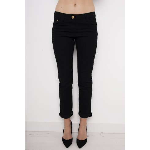 Mid Rise Skinny Jeans in Black