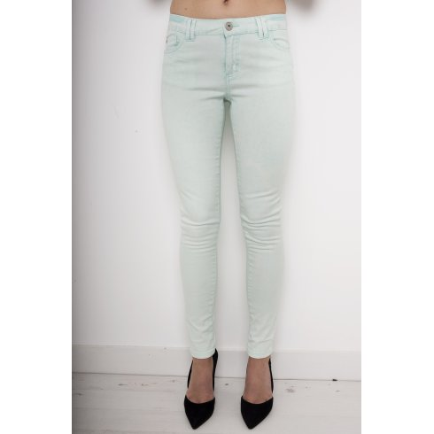 Mid Rise Skinny Jeans in Mint Green
