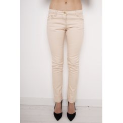 Mid Rise Skinny Jeans in Peach