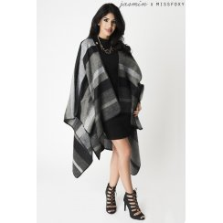 Monochrome Striped Cape