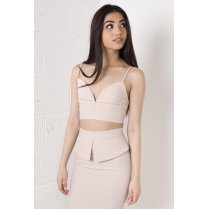 Nude Tailored Asymmetric Cropped Bralet