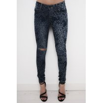 Ripped Splash Effect Mid-Rise Jeans