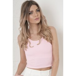 Spaghetti Strap Crop Top in Pink