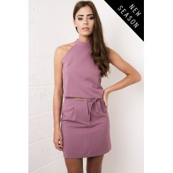 Square Neck Crop in Plum