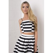 Striped Bralet in Monochrome