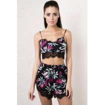 Tropical Eyelash Bralet