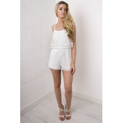 White Overlay Playsuit