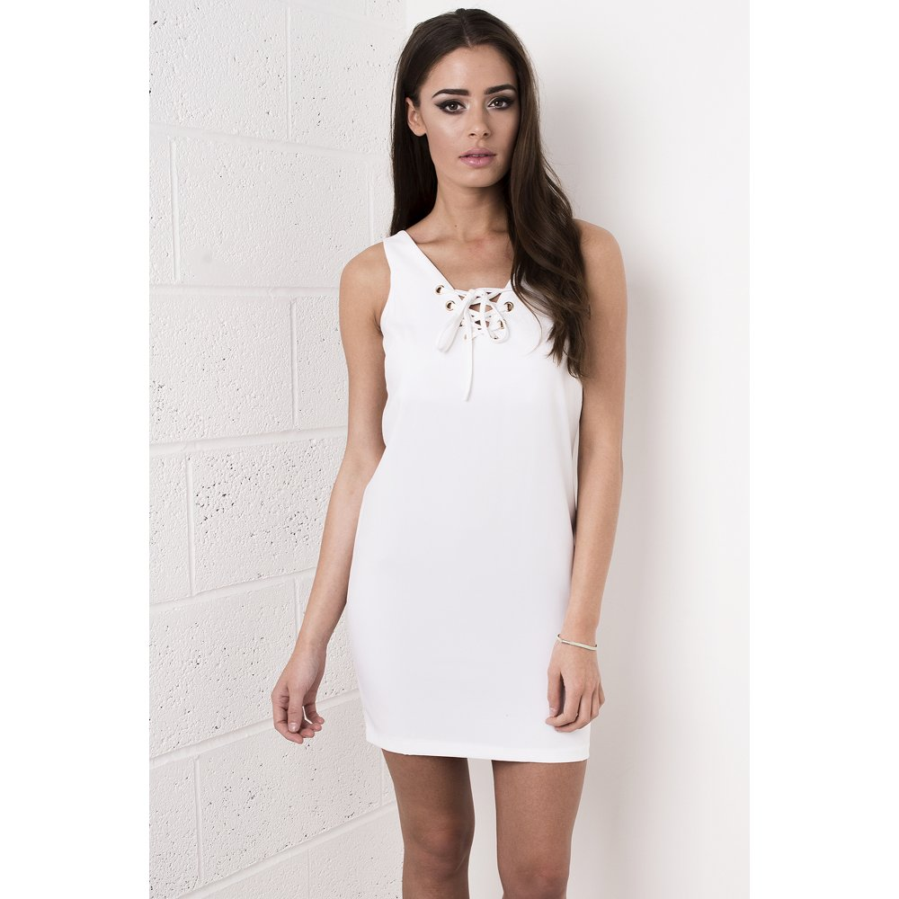 43f765a16ae8 White Tie Up Front Dress
